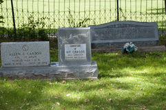 Grave of Kit Carson descendants in Taos New Mexico USA Stock Images