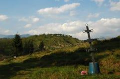 Grave. In kolotschava in ukraine Royalty Free Stock Image