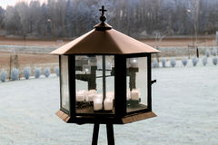 Grave lantern Stock Image