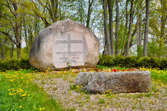 Grave Latvian Legion stock image