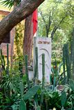 The grave of Leon Trotsky at the house where he lived in Coyoacan, Mexico City royalty free stock image