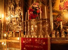 Grave of the Lord. Church of the Holy Sepulchre in Jerusalem - Israel Stock Photos