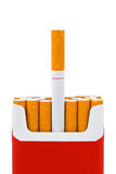 Grave made of cigarettes Royalty Free Stock Image