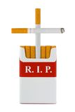 Grave Made Of Cigarettes Royalty Free Stock Photos