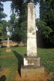 Grave marker of burial place for James and Dolly Madison, Montpelier, Virginia Stock Photos