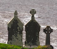 Grave Markers In Donegal Cemetery Donegal Ireland Royalty Free Stock Photos
