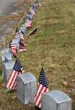 Grave markers and flags Stock Photos