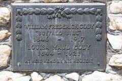 Grave marking of Buffalo Bill. Aka William Frederick Cody Royalty Free Stock Images