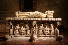 Grave monument inside a church Royalty Free Stock Photos