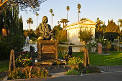 The Grave Monument of Johnny Ramone. Johnny Ramone`s grave; Hollywood Forever Cemetery, Los Angeles CA Stock Photo