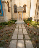 Grave near the church of St. Nicholas in the old Varna in Bulgaria Royalty Free Stock Photos