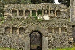 Grave at the necropolis of Porta Nocera in Pompeii Stock Photos