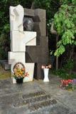 Grave of Nikita Khrushchev 1894-1971 - Novodevichy Cemetery. MOSCOW, RUSSIA - Grave of Soviet Leader Nikita Khrushchev 1894-1971 in Novodevichy Cemetery Royalty Free Stock Photos