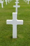 Grave in Normandy. Grave of unknown soldier in France Royalty Free Stock Image