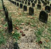 Grave pattern in cemetery stock photos