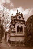 Grave at Pere Lachaise Royalty Free Stock Photos