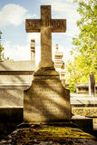 Grave at Pere Lachaise cemetry Paris Royalty Free Stock Photography