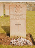 Grave of Private William Hesford. William Hesford was 15 years old when he was died. He had left the US to serve as a private soldier in the British Army under Royalty Free Stock Images