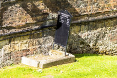 Grave of ravens in the Tower of London. Royalty Free Stock Photo