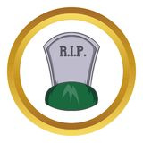Grave rip vector icon Stock Photos