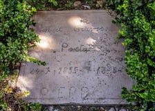 The Grave of Robert Graves, Deia - Deya, Mallorca. Royalty Free Stock Images