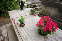 Grave of Simone Signoret and Yves Montand Stock Image
