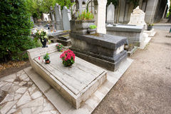 Grave of Simone Signoret and Yves Montand Stock Images