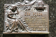 Grave site of Evita Peron Royalty Free Stock Photos