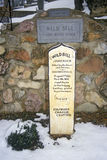 Grave site of Wild Bill Hickock, infamous outlaw in Mount Moriah Cemetery, Deadwood, SD in winter snow Stock Photo
