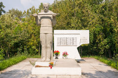 Grave of Soviet soldiers who died during the liberation of the village from invaders Dzhemete Anap. Anapa, Russia- August 28, 2016: grave of Soviet soldiers who Stock Image
