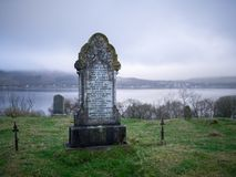 Grave at St Michael& x27;s Chapel, Bute Royalty Free Stock Images