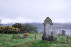 Grave at St Michael& x27;s Chapel, Bute Stock Photos