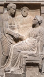Grave Stele is a marble monument from Athens Stock Photo