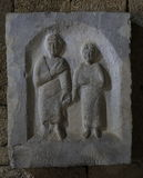 Grave stele from Nisyros Royalty Free Stock Image