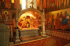 Grave of Stephen the Great in Putna monastery. Grave of Stephen (Stefan) the Great, prince and the greatest of the rules of Moldavia. Located in the Putna Stock Image