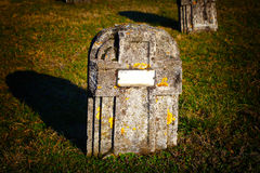 Grave stone Stock Photos