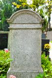 Grave stone in a cemetery Royalty Free Stock Images