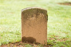 Grave Stone at Cemetery Stock Images