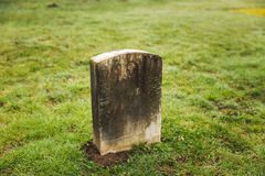 Grave Stone at Cemetery Royalty Free Stock Photo