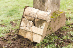 Grave Stone at Cemetery Stock Photography