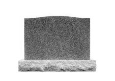 Grave Stone Isolated on White #1 Stock Photography
