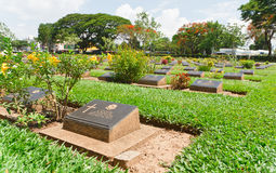 Grave Stone at World War II Cemetery. Grave Stone at World War II Cemetery, Kanchanaburi, Thailand Royalty Free Stock Image