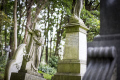 Grave Stones in Cemetery - 5 Royalty Free Stock Photography
