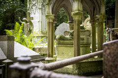 Grave Stones in Cemetery - 7 Royalty Free Stock Photography
