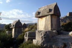 Grave Stones In Kekova Stock Photos