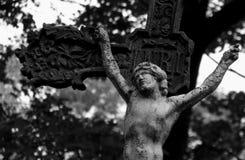Grave Stones in Lviv's Lychakiv Cemetery Stock Photo