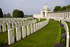 Grave stones of soldiers of the First World War Stock Photos