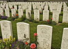 Grave stones. At Vimy Ridge War Cemetery Vimy Ridge, France royalty free stock photography