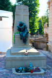 Grave of Ukrainian poet and folklorist Markiyan Shashkevych on Lychakiv Cemetery in Lviv Royalty Free Stock Images