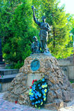 Grave of Ukrainian public figure and historian Volodymyr Barvinsky on Lychakiv Cemetery in Lviv. Grave of famous Ukrainian public figure, publisher, historian Royalty Free Stock Photo
